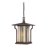 Quoizel Langston 1 Light Outdoor Hanging Lantern in Chocolate Bronze LNG1911CHBFL