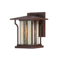 Quoizel Lighting Langston 1 Light Outdoor Wall Lantern in Chocolate Bronze LNG8407CHB