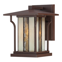 Quoizel Langston 1 Light Outdoor Wall Lantern in Chocolate Bronze LNG8407CHBFL