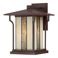 Quoizel Langston 1 Light Outdoor Wall Lantern in Chocolate Bronze LNG8409CHBFL