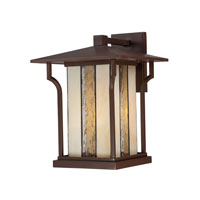 Quoizel Lighting Langston 1 Light Outdoor Wall Lantern in Chocolate Bronze LNG8411CHB