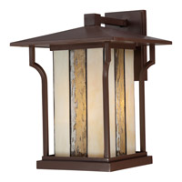 Quoizel Langston 1 Light Outdoor Wall Lantern in Chocolate Bronze LNG8411CHBFL