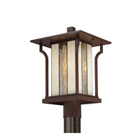 Quoizel Lighting Langston 1 Light Outdoor Post Lantern in Chocolate Bronze LNG9011CHB