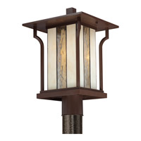 Quoizel Langston 1 Light Outdoor Post Lantern in Chocolate Bronze LNG9011CHBFL