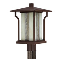 Quoizel Lighting Langston 1 Light Outdoor Post Lantern in Chocolate Bronze LNG9011CHB alternative photo thumbnail