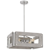 Quoizel LNY2819BN Lonny 4 Light 19 inch Brushed Nickel Pendant Ceiling Light