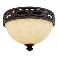 Quoizel Lighting La Parra 2 Light Flush Mount in Imperial Bronze LP1614IB