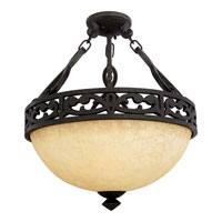 Quoizel Lighting La Parra 3 Light Semi-Flush Mount in Imperial Bronze LP1717IB