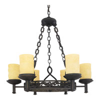 Quoizel La Parra 6 Light Chandelier in Imperial Bronze LP5006IB