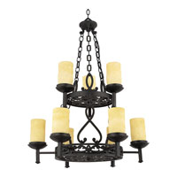 Quoizel La Parra 9 Light Foyer Chandelier in Imperial Bronze LP5009IB