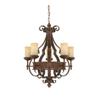Quoizel Laredo 5 Light Chandelier in Rustic Bronze LR5005RZ photo thumbnail