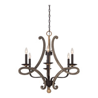 Quoizel Laramie 6 Light Chandelier in Western Bronze LRM5006WT