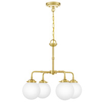Quoizel LRY5022Y Landry 4 Light 22 inch Satin Brass Chandelier Ceiling Light photo thumbnail