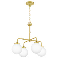 Quoizel LRY5022Y Landry 4 Light 22 inch Satin Brass Chandelier Ceiling Light alternative photo thumbnail