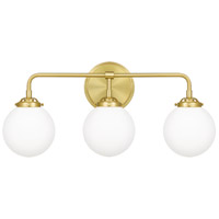 Quoizel LRY8624Y Landry 3 Light 24 inch Satin Brass Bath Light Wall Light