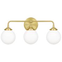 Quoizel LRY8624Y Landry 3 Light 24 inch Satin Brass Bath Light Wall Light