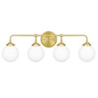 Quoizel LRY8632Y Landry 4 Light 32 inch Satin Brass Bath Light Wall Light