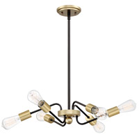 Quoizel LTT1828WT Latitude 6 Light 28 inch Western Bronze Pendant Ceiling Light