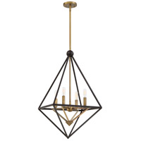 Quoizel LVR5204WT Louvre 4 Light 23 inch Western Bronze Foyer Chandelier Ceiling Light