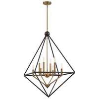 Quoizel LVR5208WT Louvre 8 Light 29 inch Western Bronze Foyer Chandelier Ceiling Light