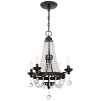 Quoizel LVY5004WT Livery 4 Light 18 inch Western Bronze Chandelier Ceiling Light