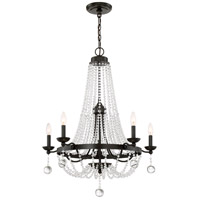 Quoizel LVY5005WT Livery 5 Light 28 inch Western Bronze Chandelier Ceiling Light