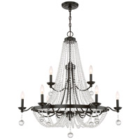 Quoizel LVY5009WT Livery 9 Light 36 inch Western Bronze Chandelier Ceiling Light, Two Tier