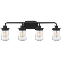 Quoizel LWN8604GK Lewiston 4 Light 30 inch Grey Ash Bath Light Wall Light, Extra Large