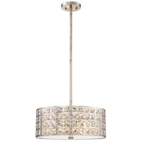 Luxury 4 Light 17 inch Vintage Gold Pendant Ceiling Light