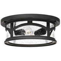 Marblehead 2 Light 13 inch Mystic Black Outdoor Flush Mount
