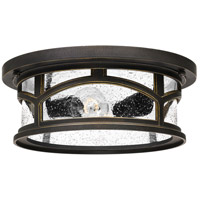 Marblehead 2 Light 13 inch Palladian Bronze Outdoor Flush Mount