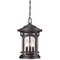Marblehead 3 Light 11 inch Palladian Bronze Outdoor Hanging