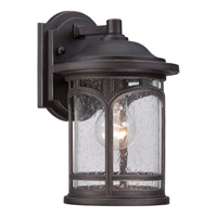 Quoizel Marblehead 1 Light Outdoor Wall Lantern in Palladian Bronze MBH8407PNFL