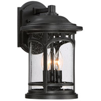 Quoizel Marblehead 3 Light Outdoor Wall Lantern in Mystic Black MBH8409K