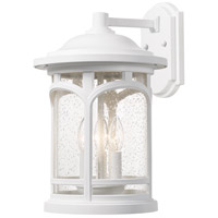 Quoizel MBH8409W Marblehead 3 Light 15 inch Fresco Outdoor Wall Lantern