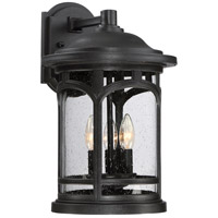 Quoizel Marblehead 3 Light Outdoor Wall Lantern in Mystic Black MBH8411K