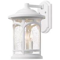 Quoizel MBH8411W Marblehead 3 Light 18 inch Fresco Outdoor Wall Lantern in White Lustre