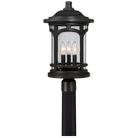Quoizel Marblehead 3 Light Outdoor Post Lantern in Mystic Black MBH9011K