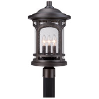 Quoizel Marblehead 3 Light Outdoor Post Mount in Palladian Bronze MBH9011PN