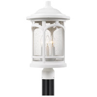 Quoizel MBH9011W Marblehead 3 Light 19 inch Fresco Outdoor Post Lantern in White Lustre