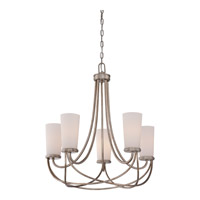 Quoizel MBK5005VG Milbank 5 Light 25 inch Vintage Gold Chandelier Ceiling Light