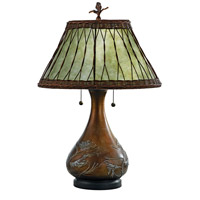 Mica 25 inch 60 watt Bronze Table Lamp Portable Light, Naturals