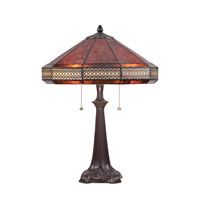 Quoizel Lighting Mica 2 Light Table Lamp in Western Bronze MC1426TWT