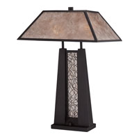 Quoizel Mica 2 Light Table Lamp in Imperial Bronze MC1689T