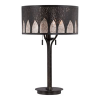 Mica 26 inch 60 watt Imperial Bronze Table Lamp Portable Light