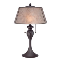 Quoizel Mica 2 Light Table Lamp in Western Bronze MC1699TWT