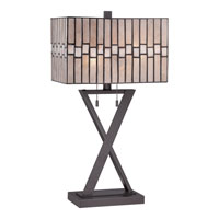 Quoizel Mica 2 Light Table Lamp in Western Bronze MC1701TWT