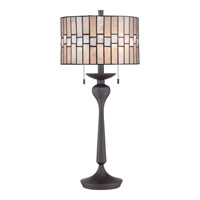 Quoizel Mica 2 Light Table Lamp in Western Bronze MC1704TWT