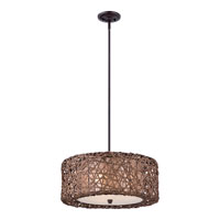 Quoizel Ruckman 3 Light Pendant in Palladian Bronze MC1706CPN