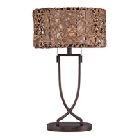 Quoizel Lighting Ruckman 2 Light Table Lamp in Palladian Bronze MC1706TPN